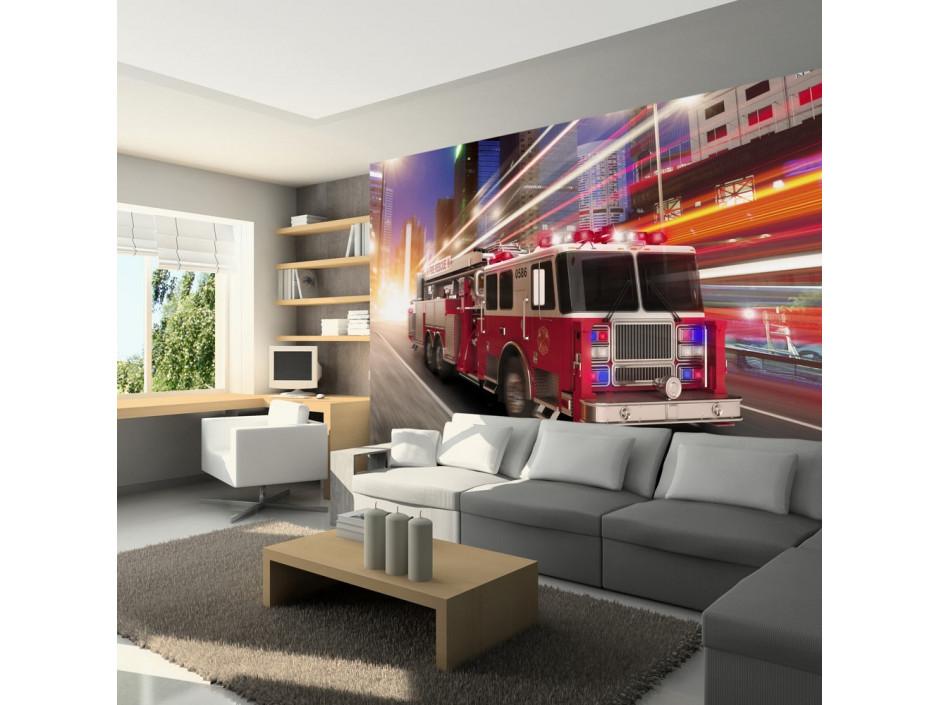 Papier peint  Fire truck