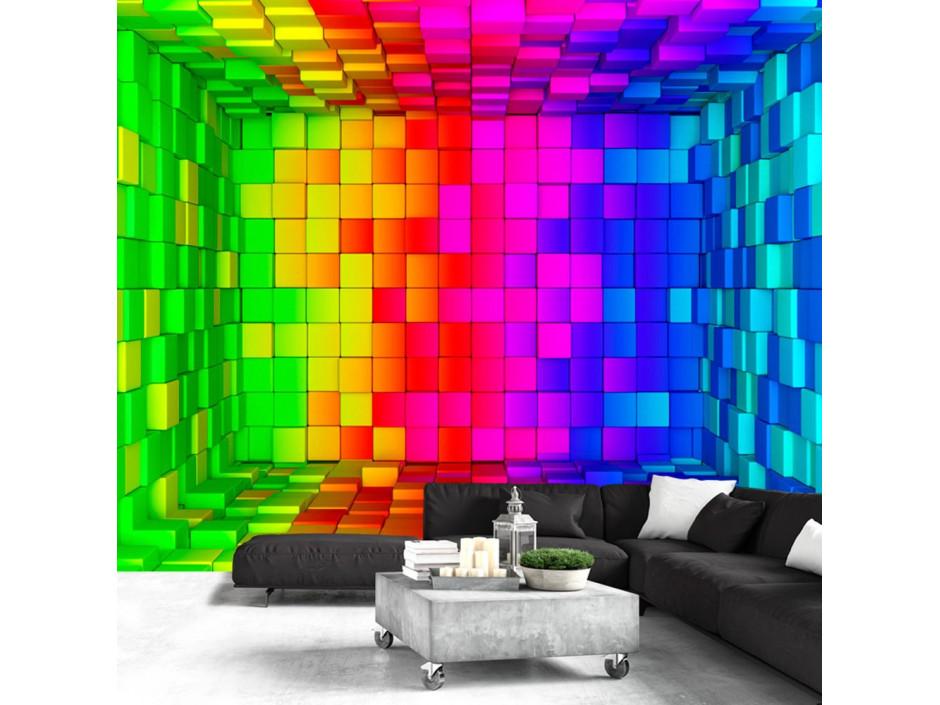 Papier peint - Rainbow Cube