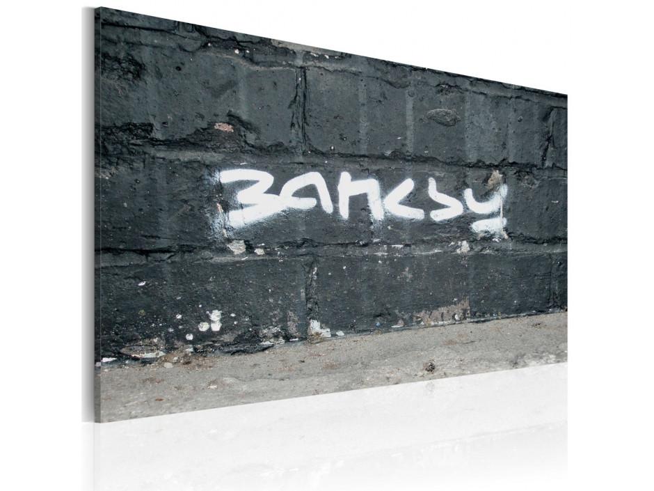 Tableau  Banksy signature