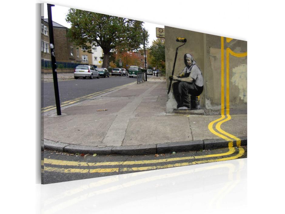 Tableau  Fleur jaune (Banksy)