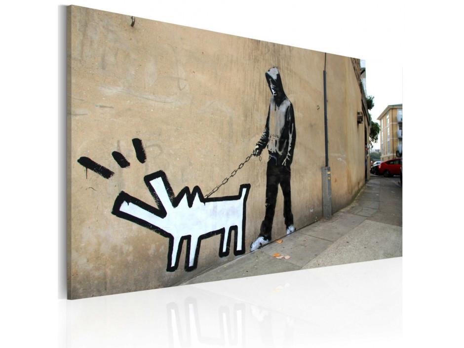 Tableau - Chien qui aboie ne mord pas (Banksy)