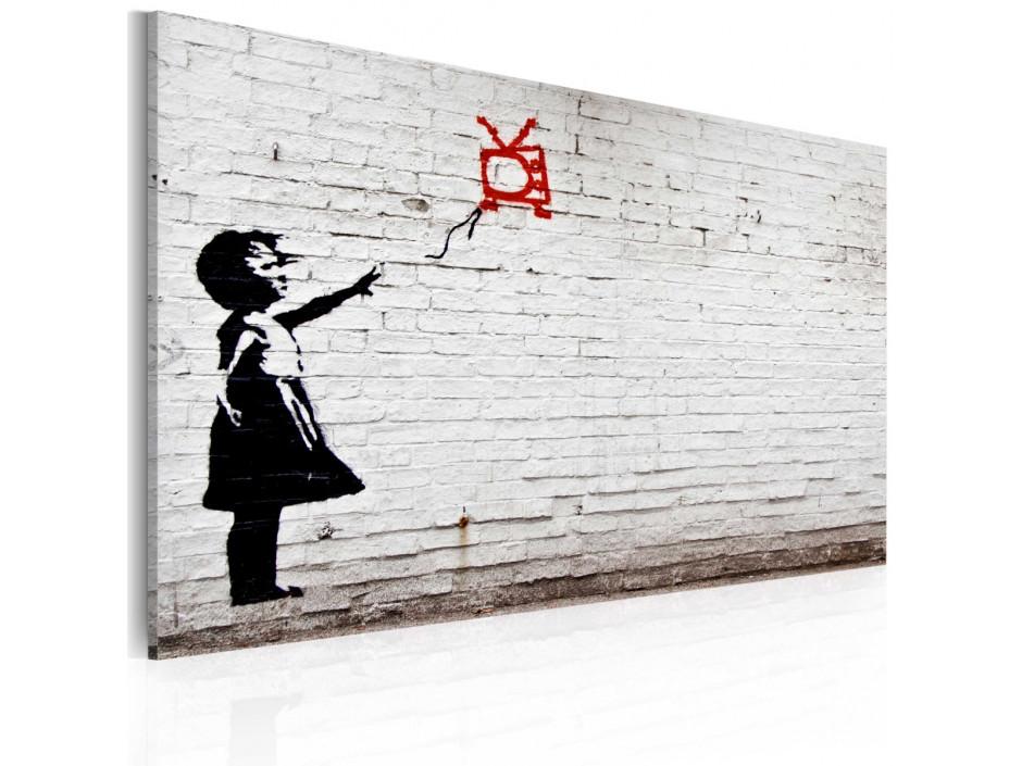 Tableau - Fille avec TV (Banksy)