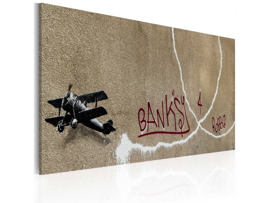 Tableau - Avion de l'amour (Banksy)
