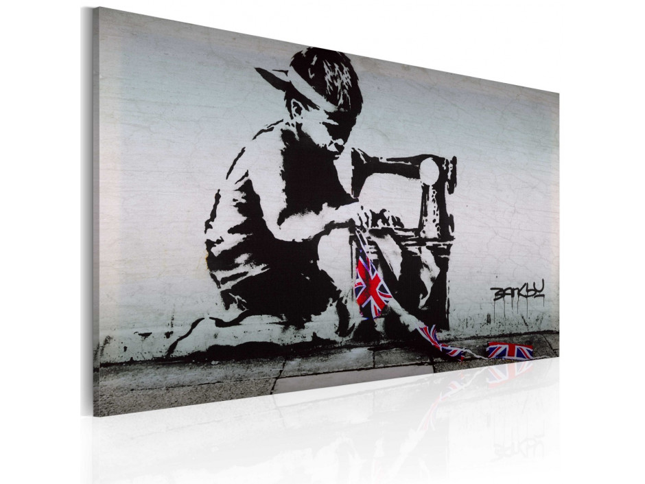 Tableau - Union Jack Kid (Banksy)