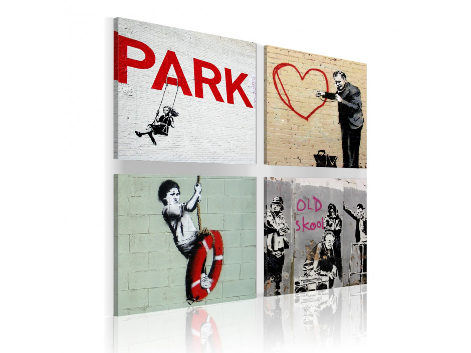 Tableau - Banksy - Inspiration urbaines