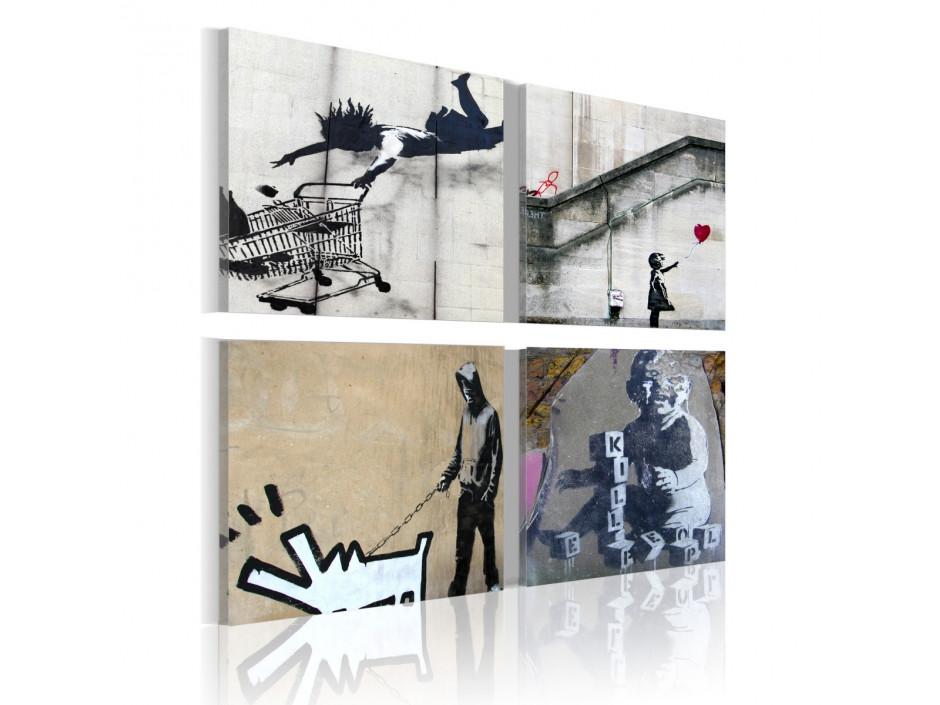 Tableau - Banksy - quatre idées créatives