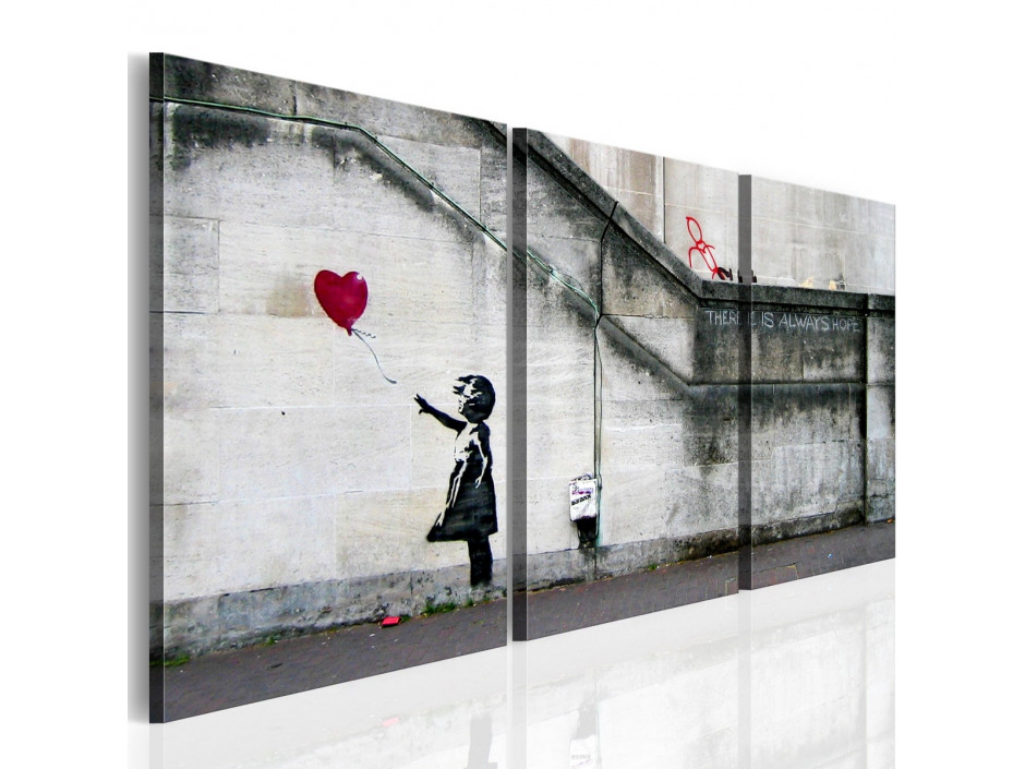 Tableau - Il ya toujours de l'espoir (Banksy) - triptyque