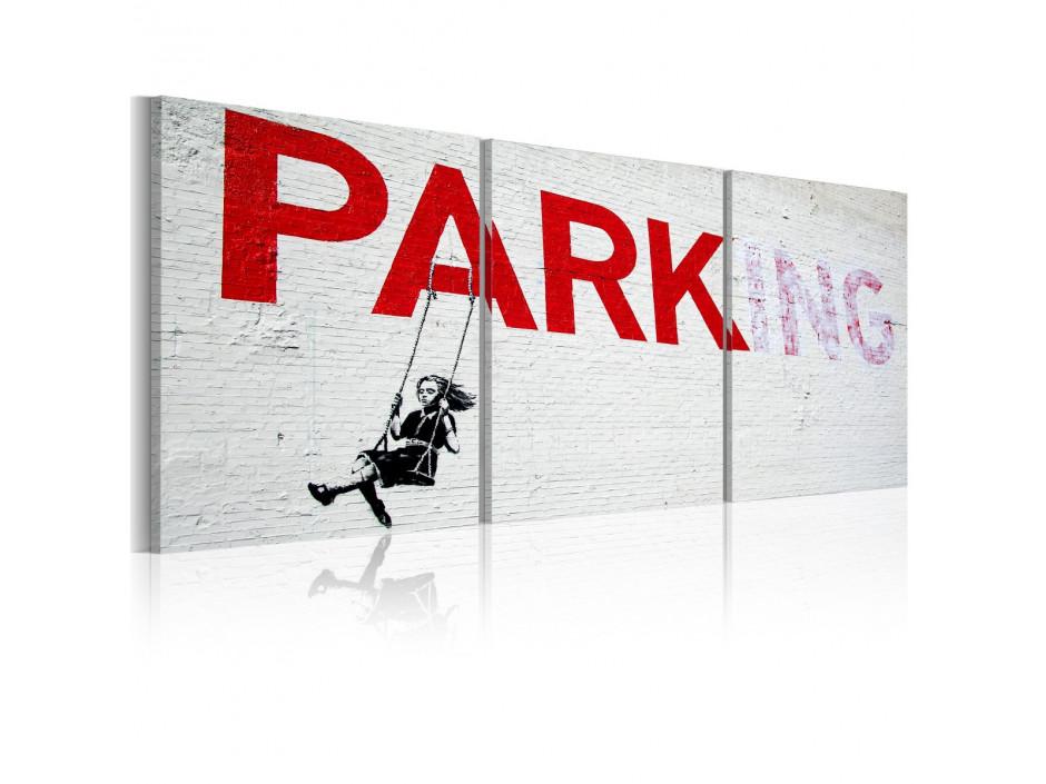 Tableau - Fille sur la balançoire (Banksy)