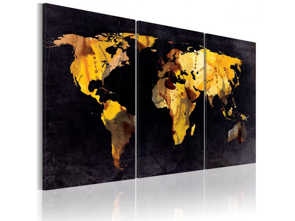 Tableau - Carte du monde - sables mouvants
