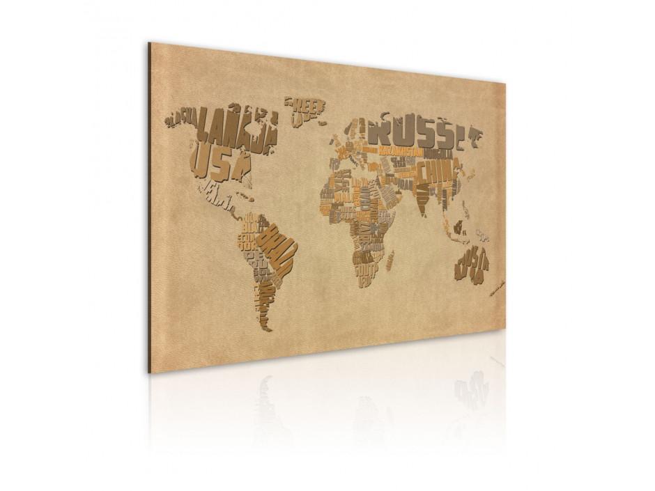Tableau  Ancienne carte du monde