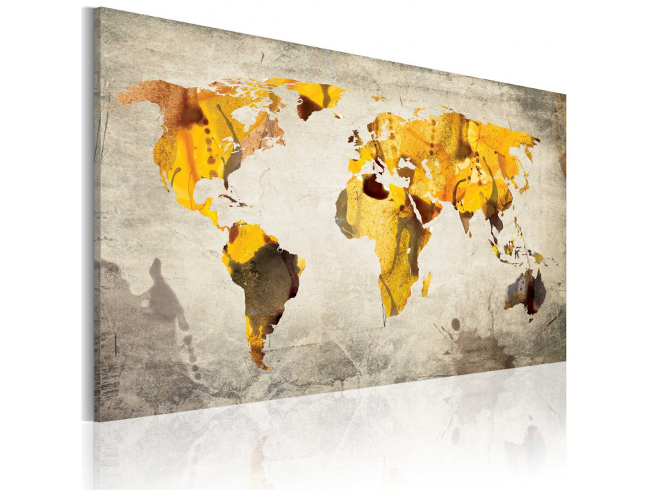 Tableau - Continents ensoleillées
