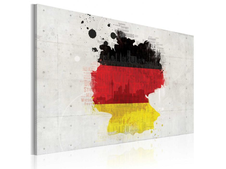 Tableau - Carte de l'Allemagne