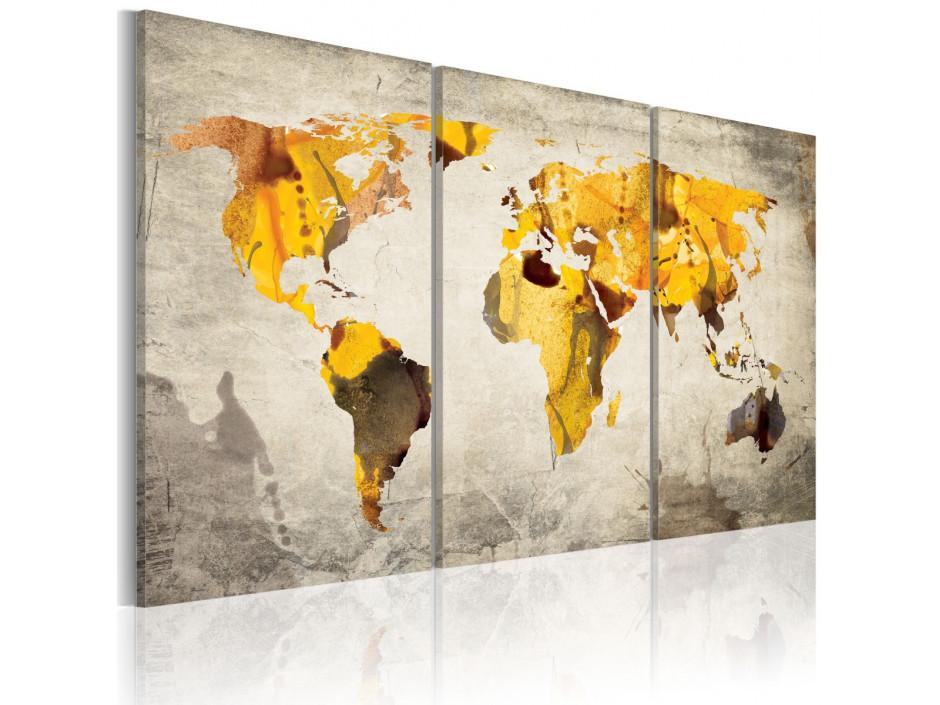 Tableau - Continents ensoleillés - triptyque