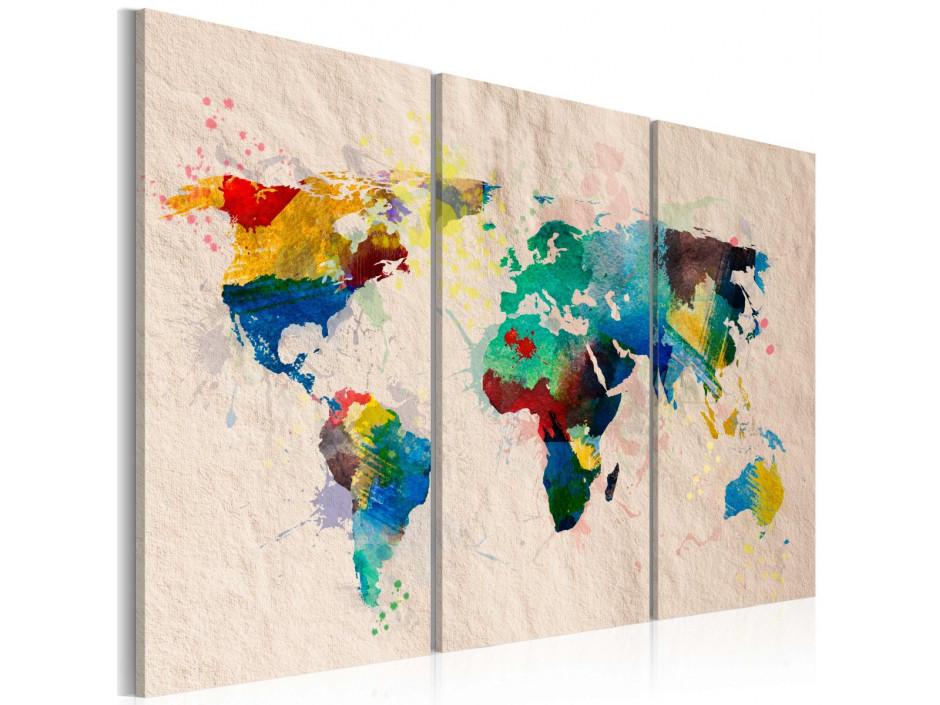 Tableau - Monde de couleurs - triptyque