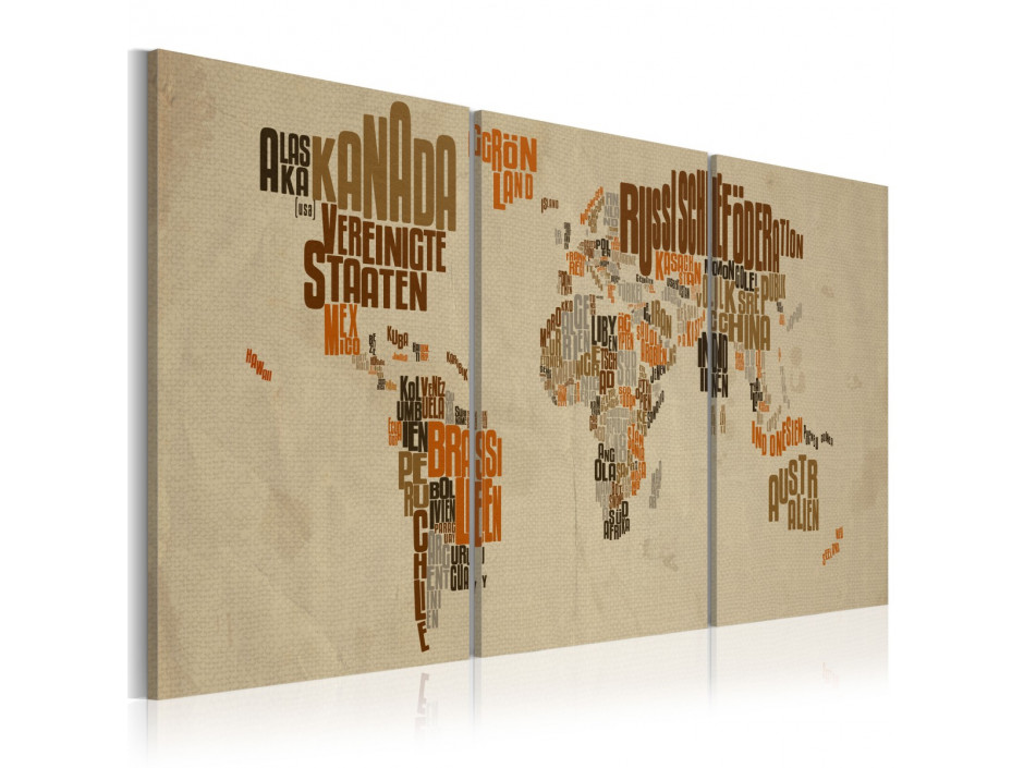 Tableau - Carte pleine d'aventures