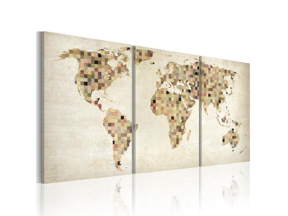 Tableau - Carte du monde - carrés