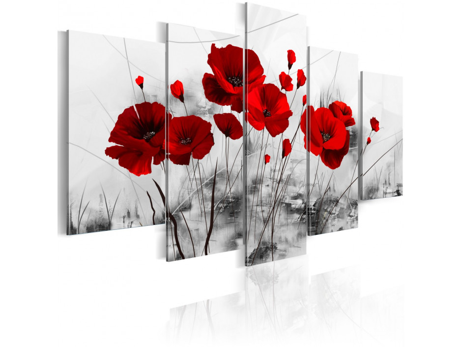 Tableau  coquelicots  rouge  miracle