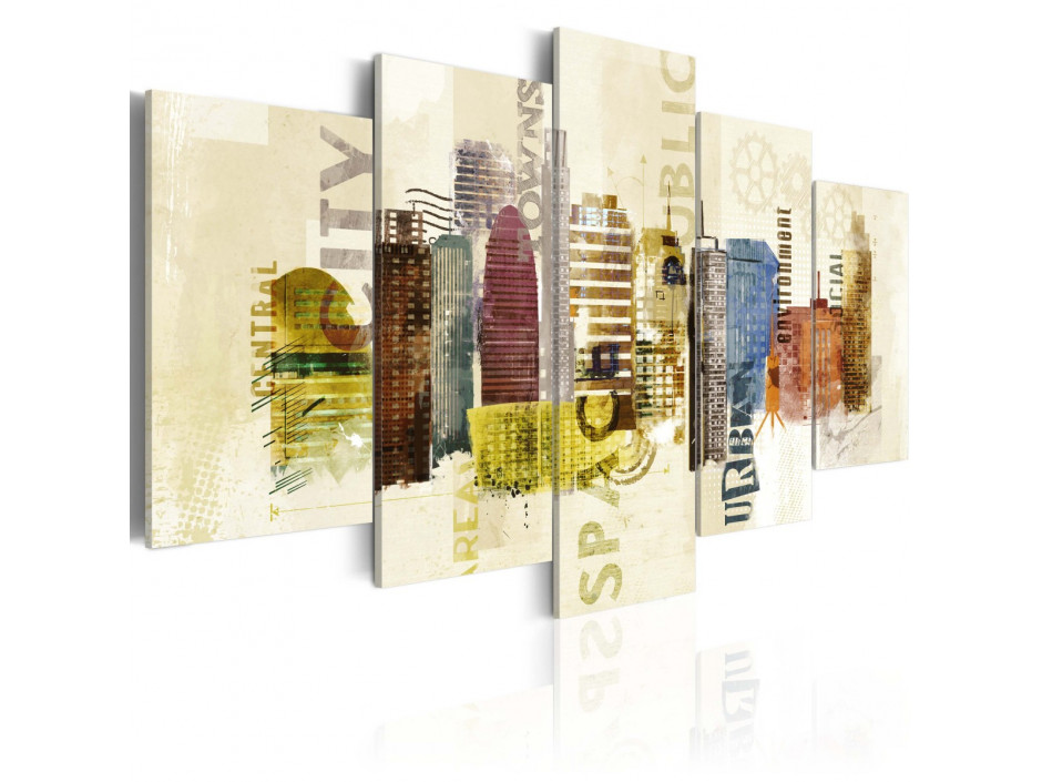 Tableau - Design urbain - 5 pièces