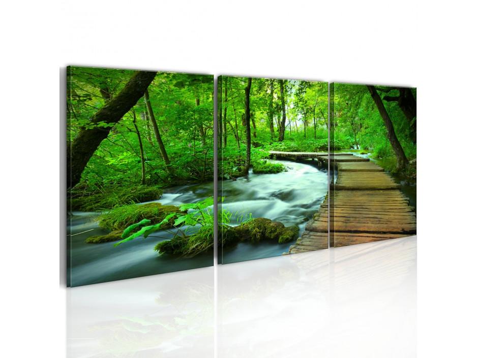 Tableau - Promenade forestière - triptyque