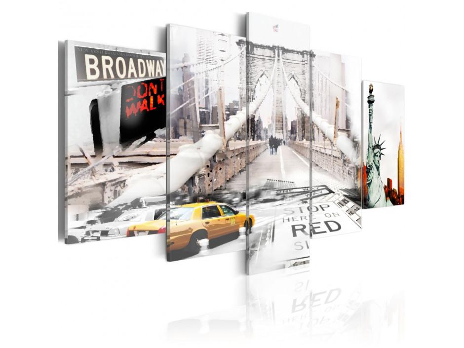 Tableau - New York dans le brouiilard