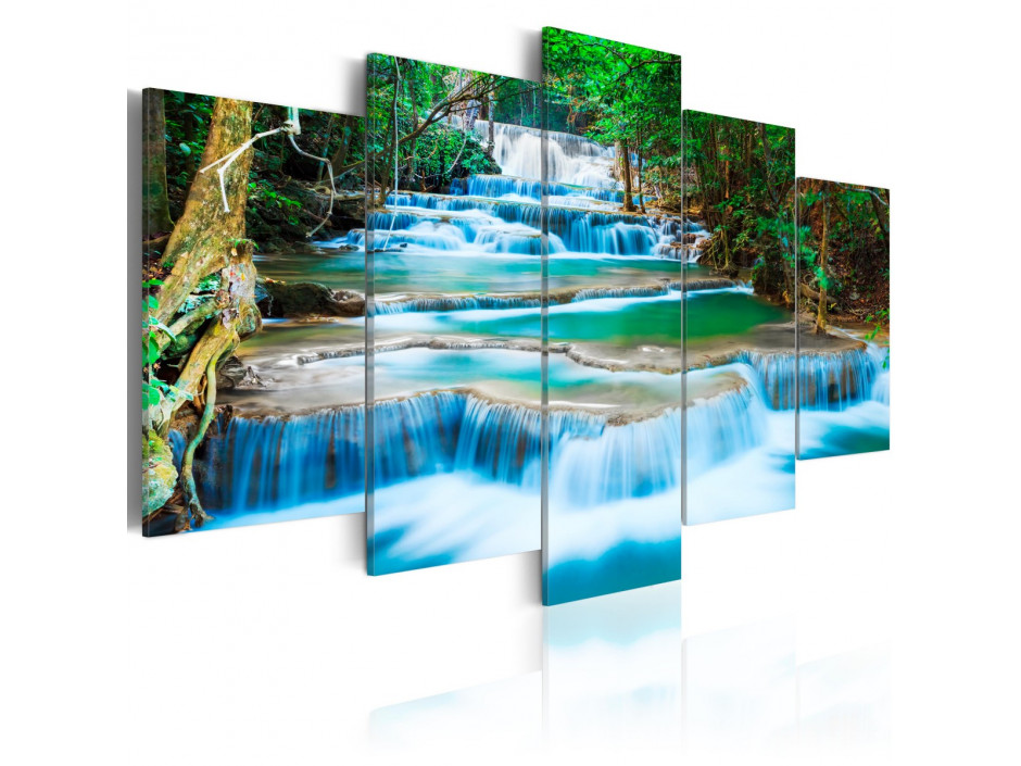 Tableau - Cascade bleue à Kanchanaburi, Thaïlande