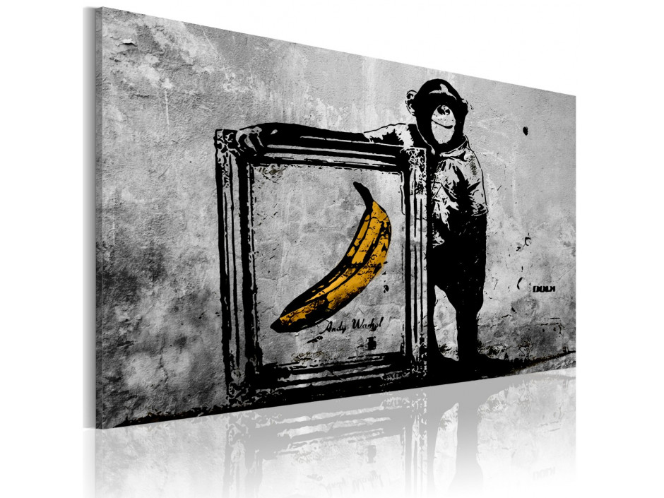 Tableau - Inspired by Banksy - black and white