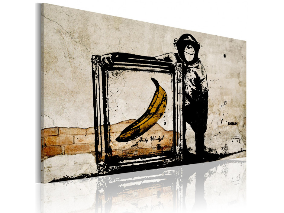 Tableau - Inspired by Banksy - sepia