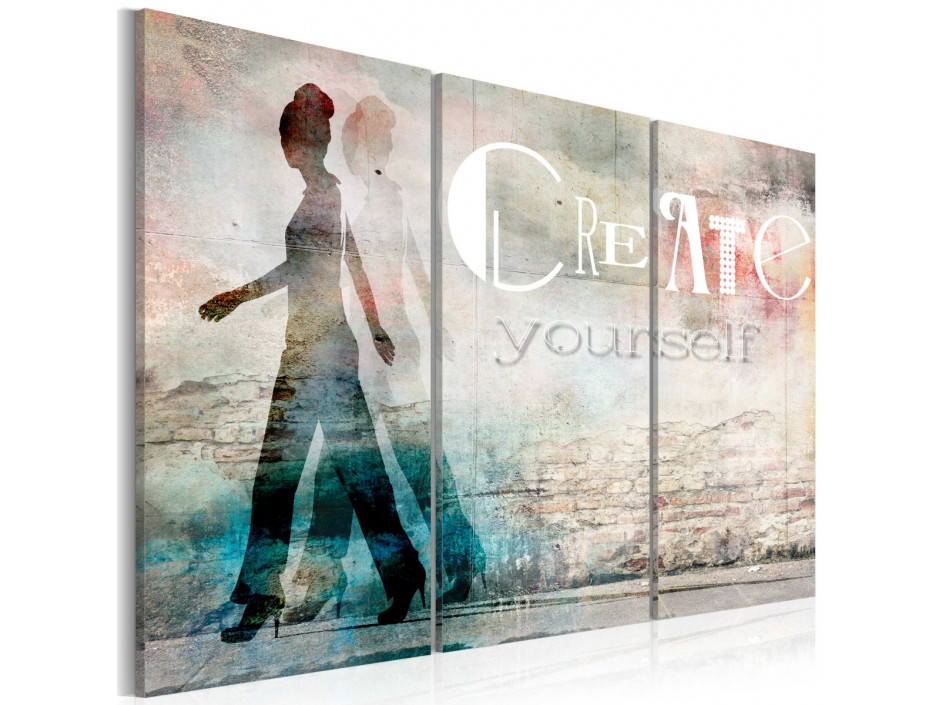 Tableau - Create yourself - triptych