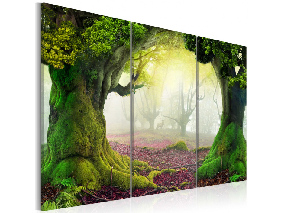 Tableau - Mysterious forest - triptych