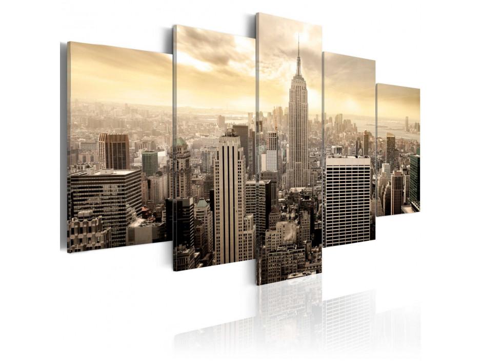 Tableau - New York et lever de soleil