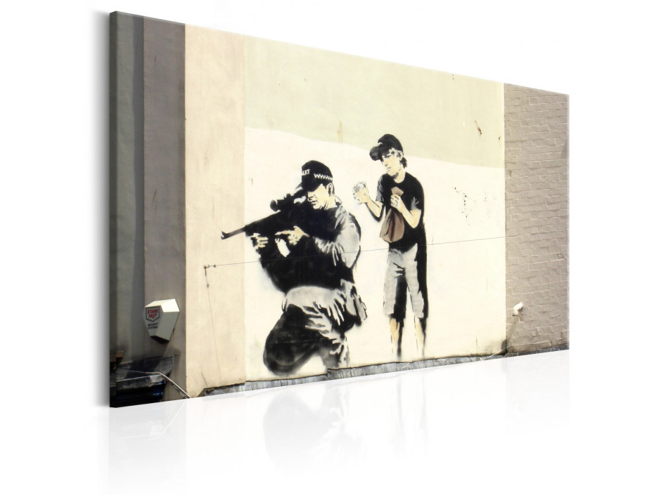 Tableau - Sniper and Child by Banksy