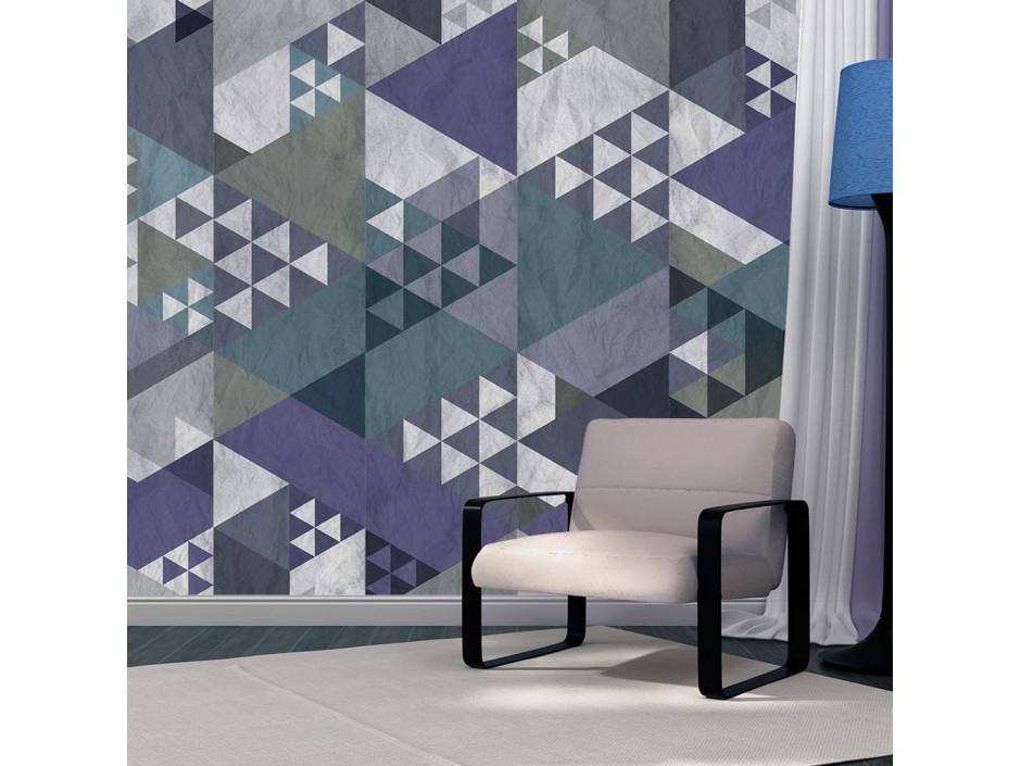 Papier peint - Blue patchwork