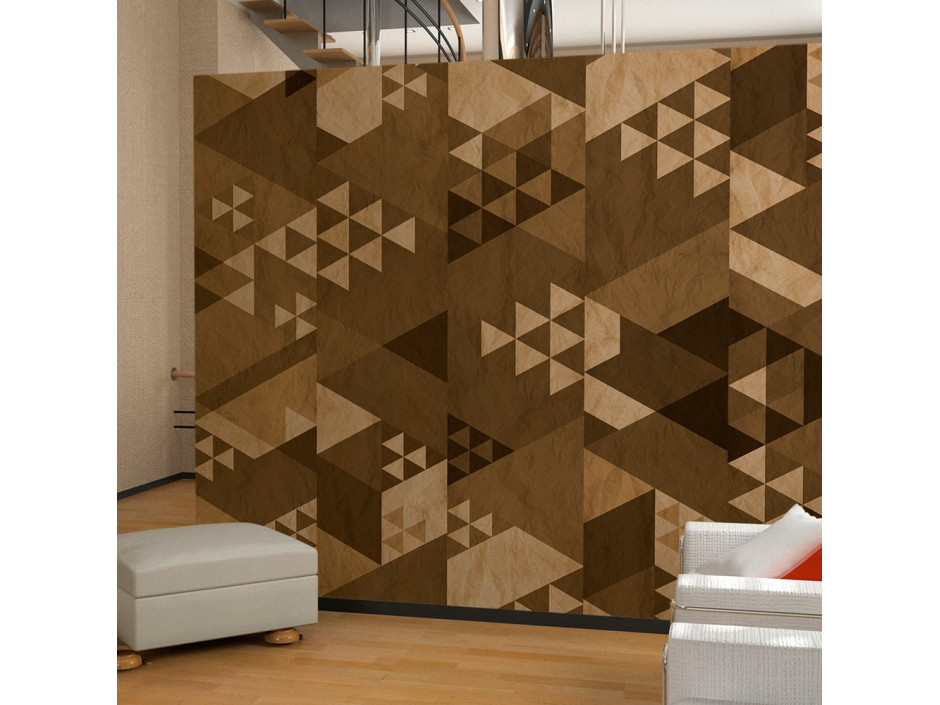 Papier peint - Brown patchwork