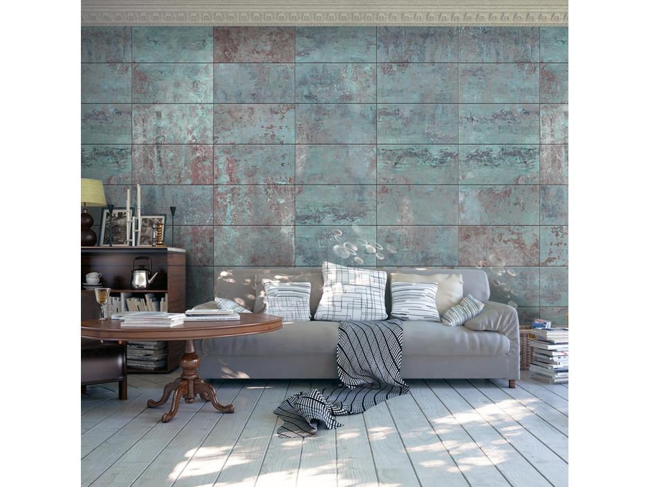 Papier peint - Turquoise Concrete