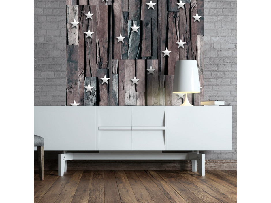 Papier peint  Stars on Wood