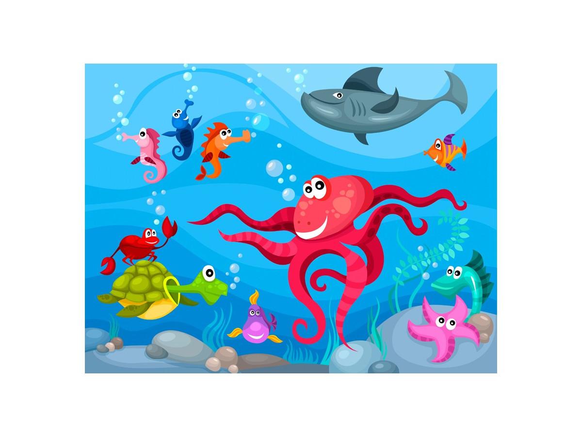 Papier peint - Poulpe et requin - Declina