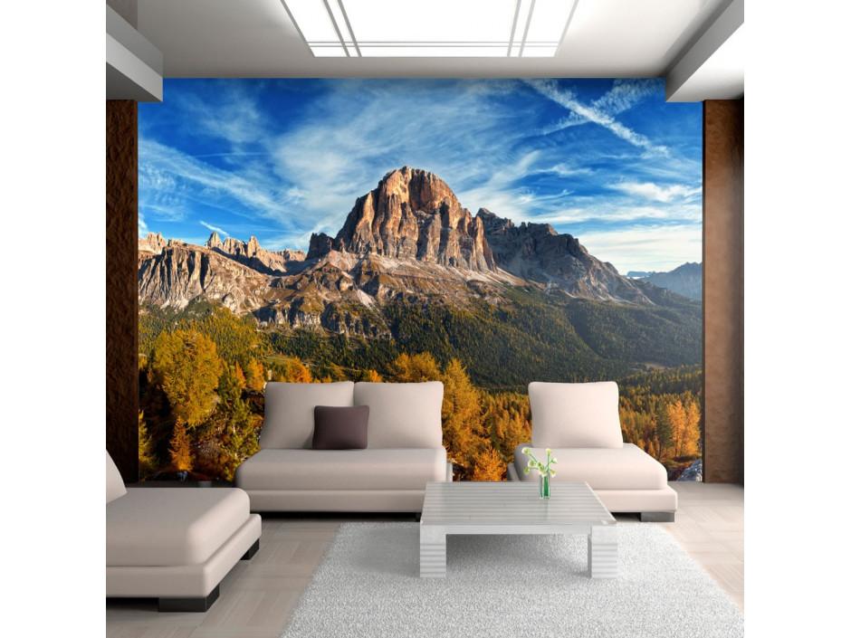Papier peint - Vue merveilleuse sur les Dolomites