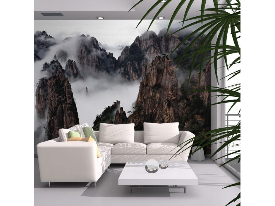 Papier peint - Mer de nuages, Monts Huang Shan, Chine