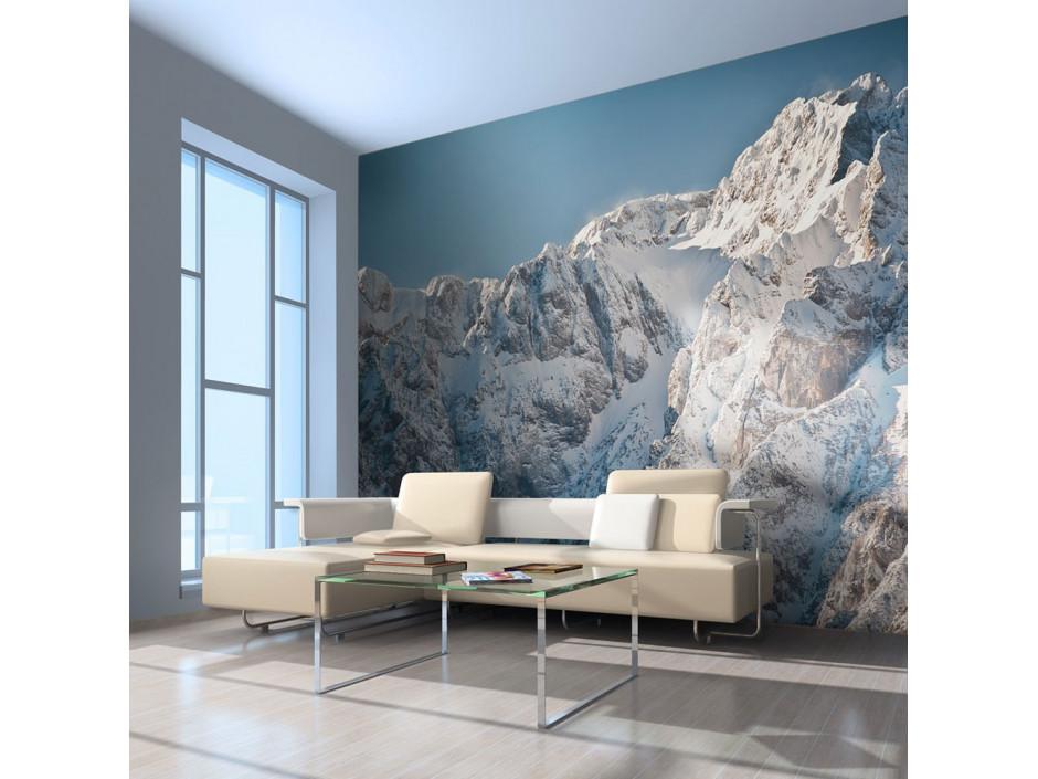 Papier peint - Paysage enneigé, Alpes