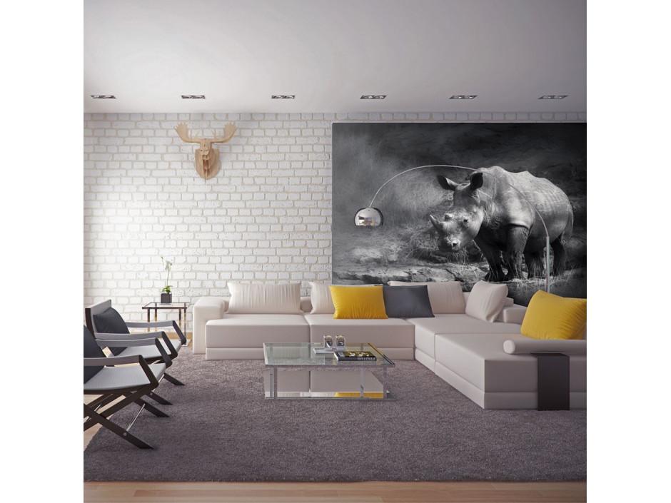 Papier peint  Rhinocéros perdu dans la rêverie