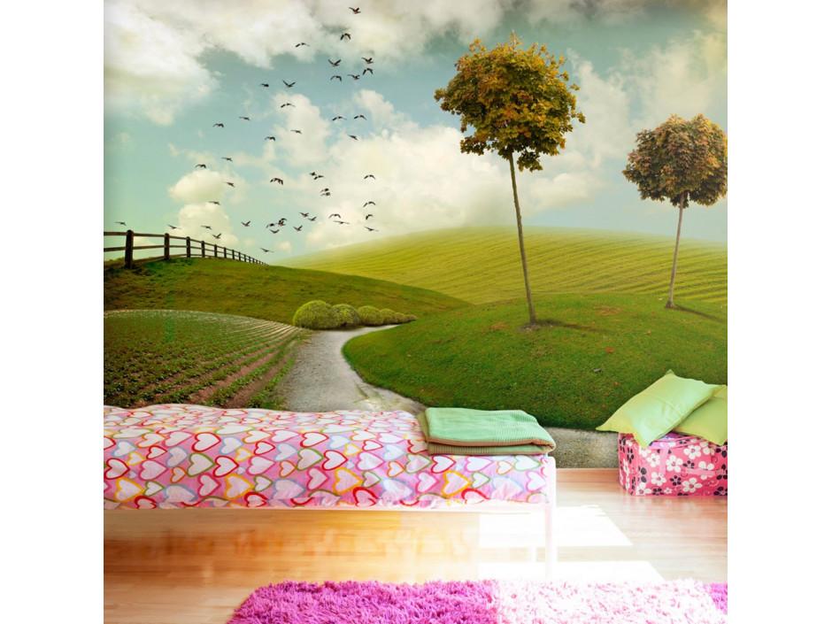 Papier peint  automne  paysage