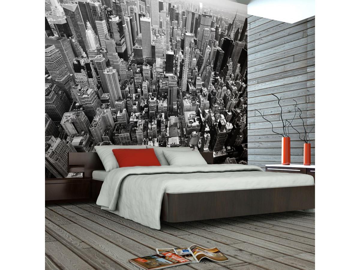 Papier Peint Noir Et Blanc Graphique papier peint - États-unis, new york: noir et blanc - declina