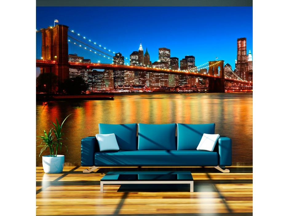 Papier peint - Pont de Brooklyn au crépuscule - New York