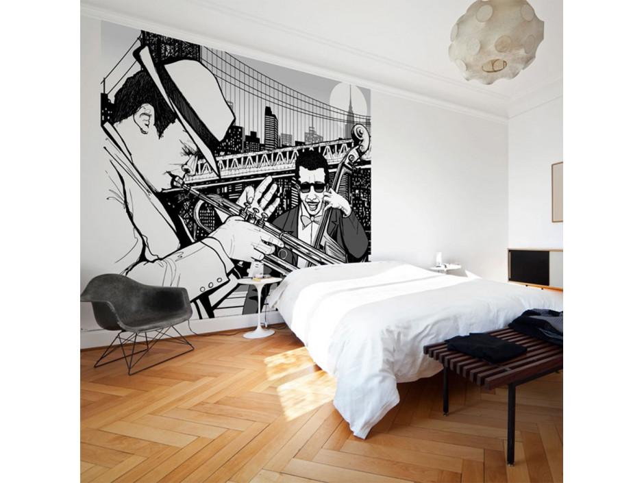 Papier peint  New York, musique, jazz...
