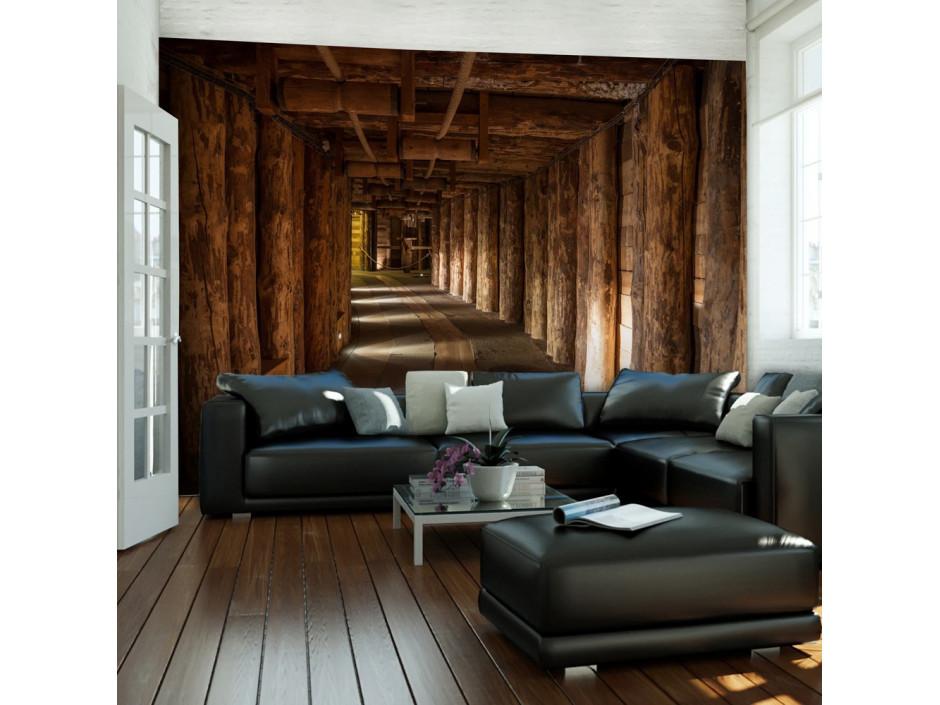Papier peint  Wooden passage