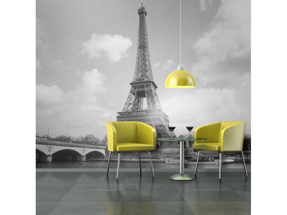 Papier peint  Seine et Tour Eiffel