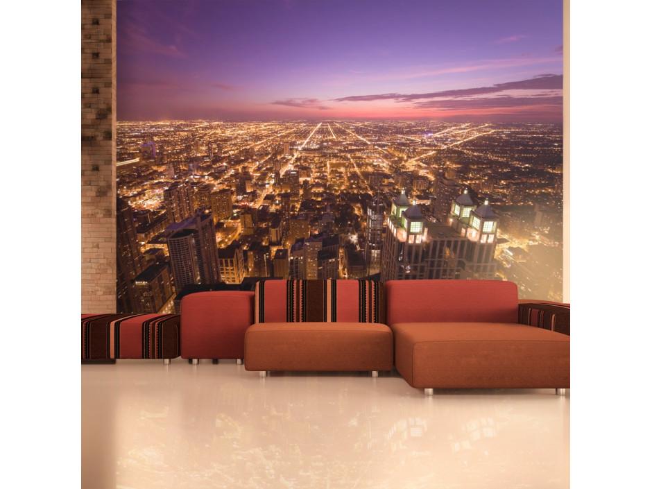 Papier peint  Chicago  ambiance de nuit