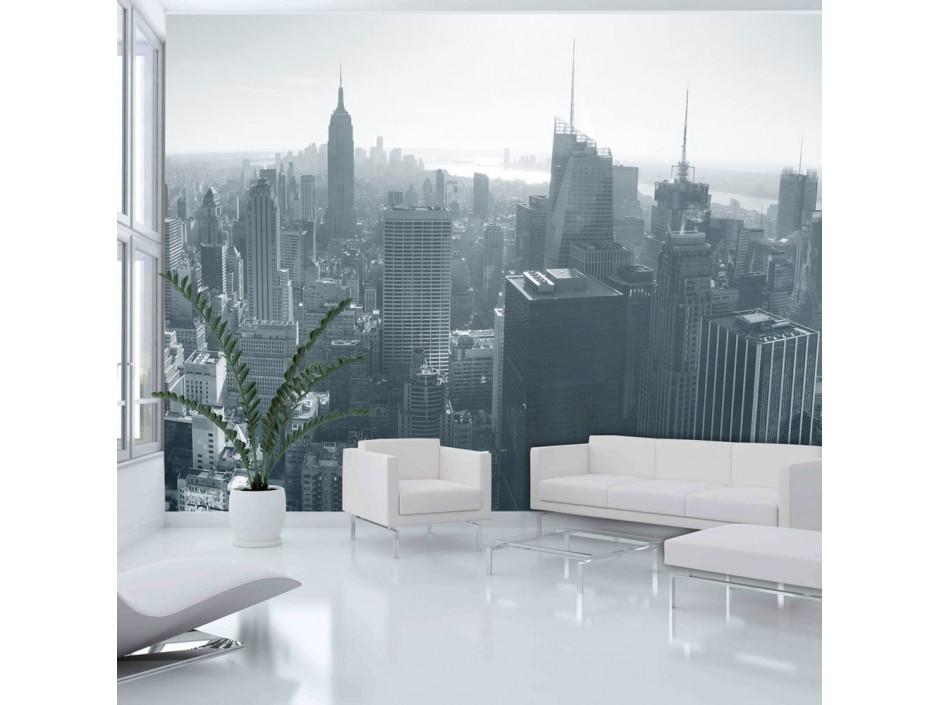 Papier peint - Panorama de New York en noir et blanc