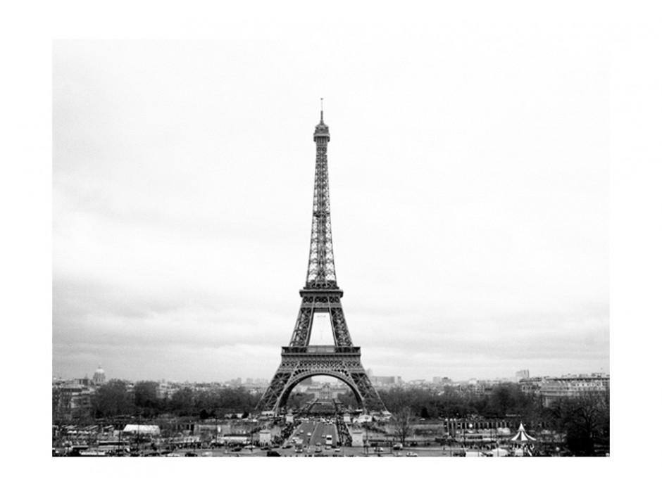 Papier peint  Paris  photographie en noir et blanc