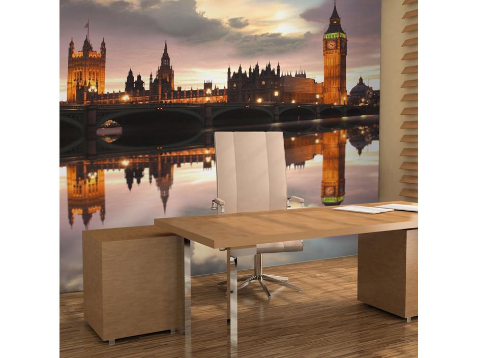 Papier peint  Soirée à Londres, Big Ben